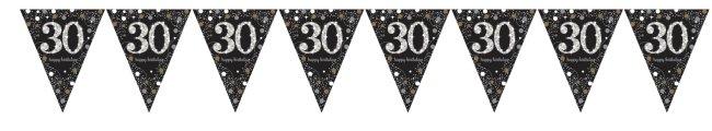 Banderines Celebración Sparkling Prismático edad 30 Metalizados - 4m
