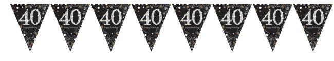Bandera Prismática Celebración Brillante Edad 40 - Aluminio 4m
