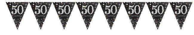 Guirnalda prismática Celebración Sparkling de 50 años en aluminio - 4m