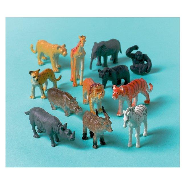 Animales de la selva de plástico