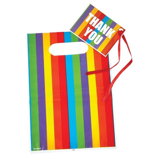 Bolsas Rayadas Arcoiris con Etiquetas - Bolsas para Chuches