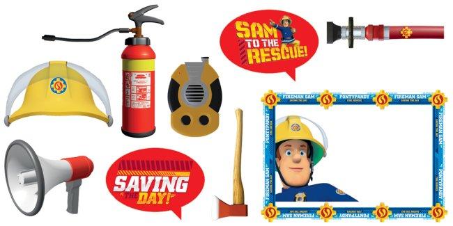Accesorios para Photocall de Sam el bombero