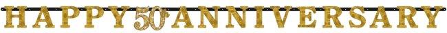 Banner Pancarta Aniversario de Bodas de Oro 50