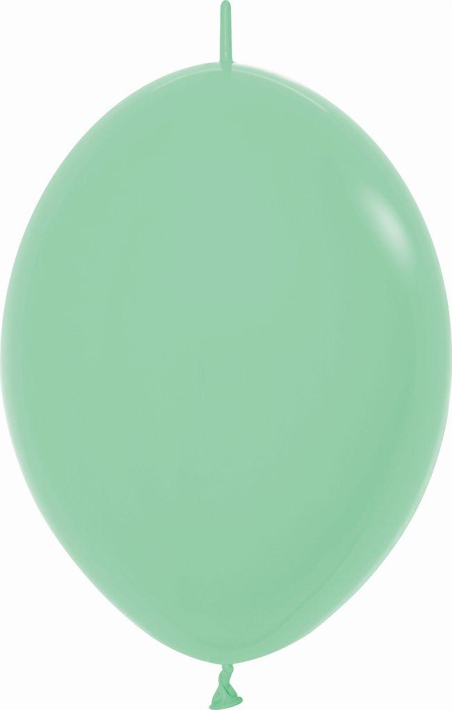 Globo Latex Link-O-Loon 6 Sempertex Fashion Solido Verde Menta 15cm