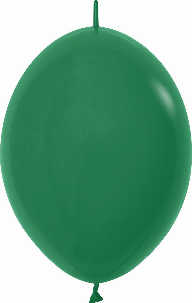 Globo Latex Link-O-Loon 6 Sempertex Fashion Solido Verde Selva 15cm