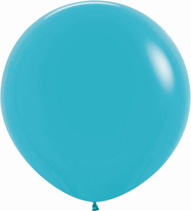 Globo Latex R36 Sempertex Fashion Solido Azul Caribe 91,5cm