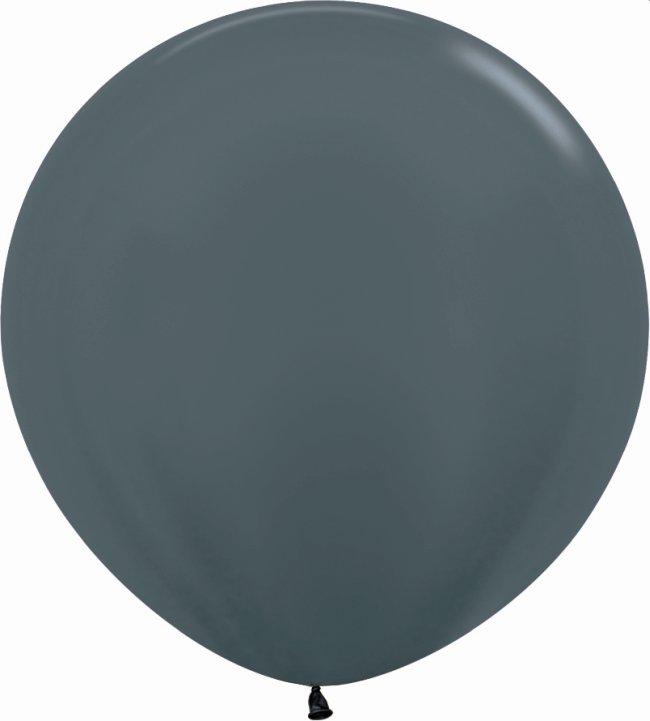 Globo Latex R36 Sempertex Metal Grafito 91,5cm