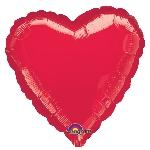 Globo Rojo Metálico Corazón San Valentín - Metalizado 45cm - Sin Empaquetar