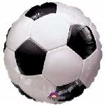 Globo Balón de Fútbol Metalizado Aluminio 45cm