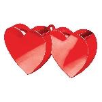 Soporte para Globos Doble Corazón Rojo - 170g