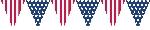 Banderín de plástico bandera USA americana-3,7m
