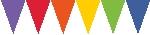 Banderines de papel colores del arcoiris-4,5m
