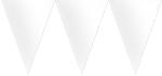 Banderín de papel blanco-4,5m