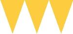 Banderín de papel amarillo-4,5m