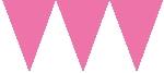 Banderín de papel rosa-4,5m