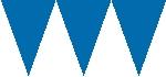 Banderín de papel azul marino-4,5m