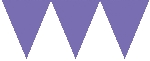 Banderín de papel morado-4,5m