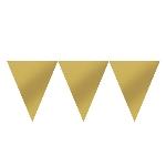 Banderín dorado de papel-4,5m