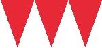 Banderín de papel rojo-4,5m