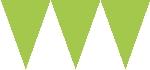 Banderín de papel verde lima-4,5m