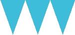 Banderín de papel azul turquesa-4,5m