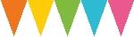 Banderines de papel multicolores-4,5m