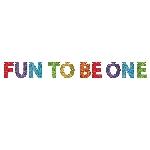 Banner Letrero Purpurina Arcoíris ''Fun to be One'' Primer Cumpleaños - 3,6m