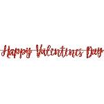 Banner Letrero Purpurina Felíz Día de San Valentín - 3m