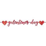 Banner de letras metalizadas con purpurina Día de Galentines - 4,65m - Decoración San Valentín