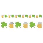 Guirnalda con tréboles y cervezas del día de San Patricio - 3,65m