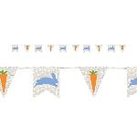 Banderín de tela arpillera con temática de Pascua - Decoración de Pascua