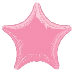 Globos Estrella Rosa Metálico - metalizado 48cm