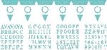 Banderín de letras y números azul claro para personalizar- 7,9m