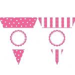 Banderín de letras y números rosa fucsia para personalizar- 7,9m