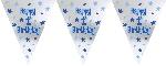 Banderín de papel de aluminio para 1 cumpleaños de niño-3,7m