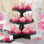 Stand negro para cupcakes