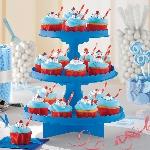 Stand para cupcakes en azul real