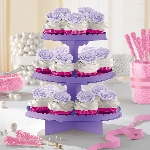 Stand para cupcakes color morado