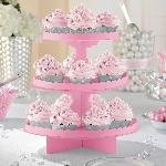 Soporte para cupcake rosa