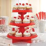 Stand para tartas en rojo