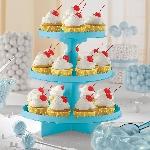 Soporte para cupcakes azul caribe
