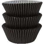 Fundas para Cupcakes Negras - 5cm