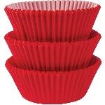 Fundas para Cupcakes Rojas - 5cm