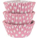 Fundas para Cupcakes Polka Dot Rosa - 5cm