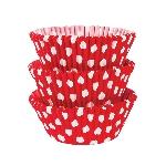Fundas para Cupcakes Polka Dot Rojo - 5cm