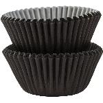 Mini Fundas para Cupcakes Negras - 3cm