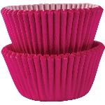 Mini Fundas para Cupcakes Rosa Brillante - 3cm