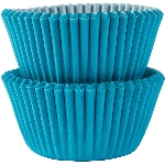 Mini Fundas para Cupcakes Azul Caribe - 3cm