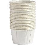 Mini Vasos Blancos para Condimentos