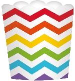 Envase grande ondulado para comida con los colores del arcoiris